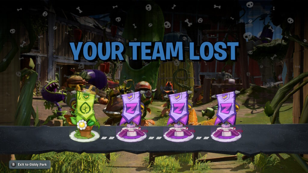 Plants vs. Zombies review - team lost